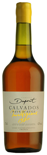 Bottle Domaine Dupont Calvados 1980