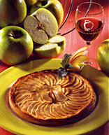 Pommeau and apple tart