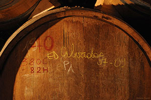 Oak cask to be used for the aging of calvados