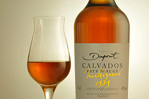 Calvados bottles with calvados glass