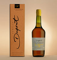 Bottle with box: Calvados 1977