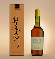 Bottle with box: Calvados 1980